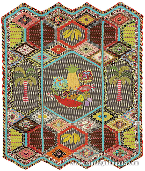 Patchwork patterns using hexagons shapes