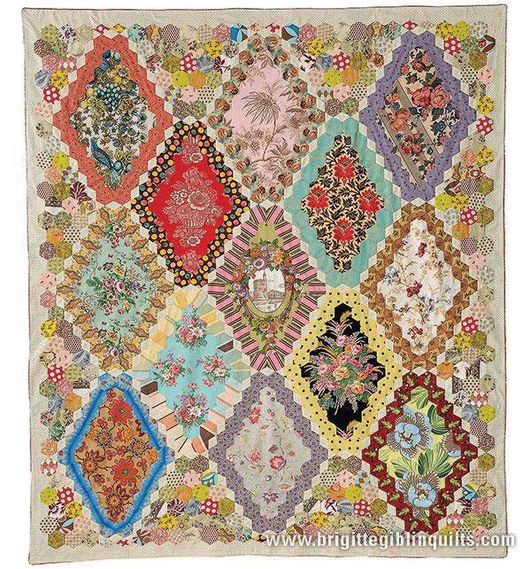 Quilting Template Hexagon : 13-Panel Hexagon Quilt Pattern Brigitte Giblin Quilts