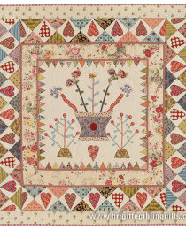 Hearts and Vases Quilt