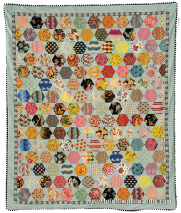 Hexagon and Blue Star Quilt