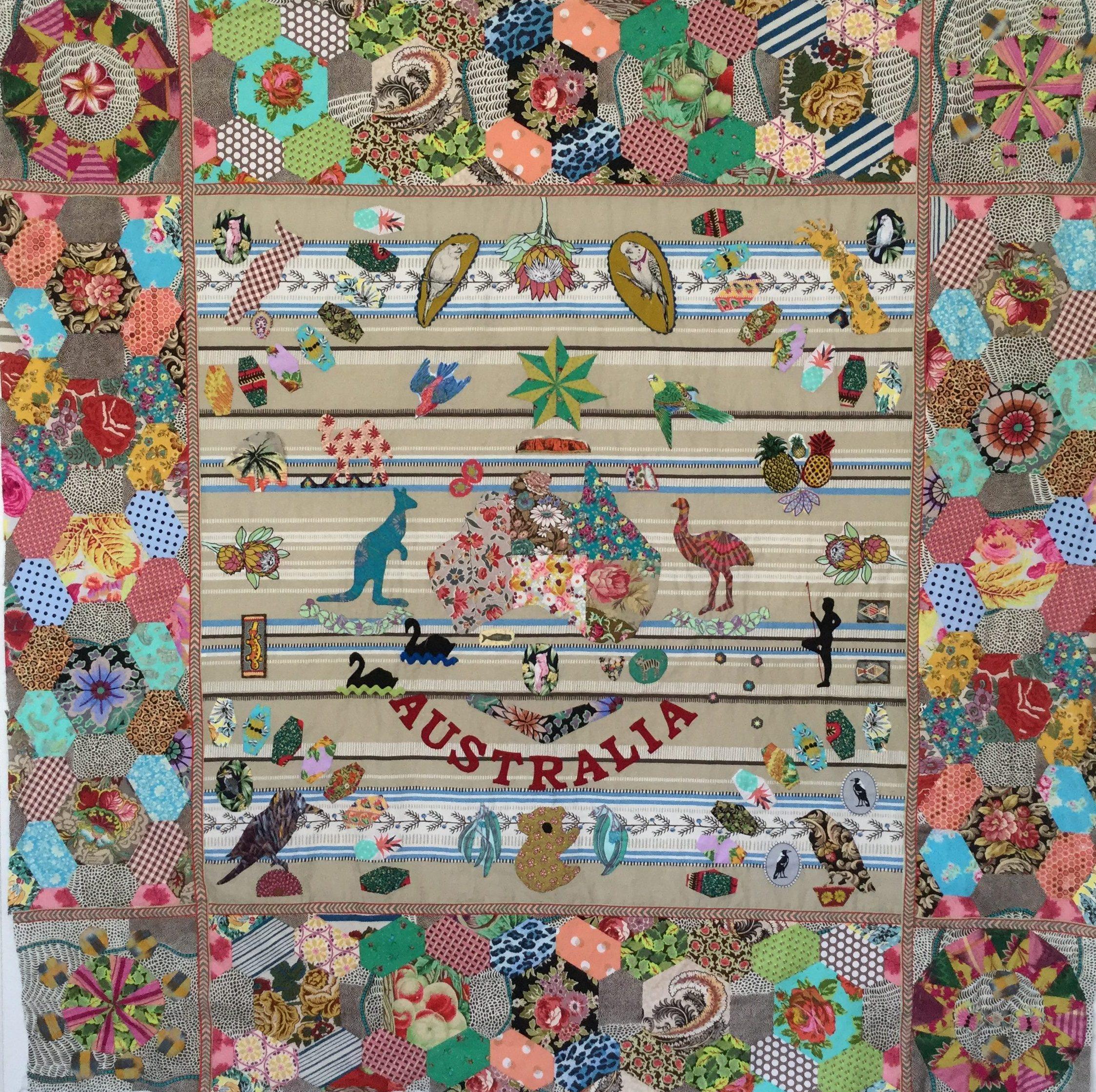 Australia Quilt Pattern Made By Brigitte Giblin Brigitte
