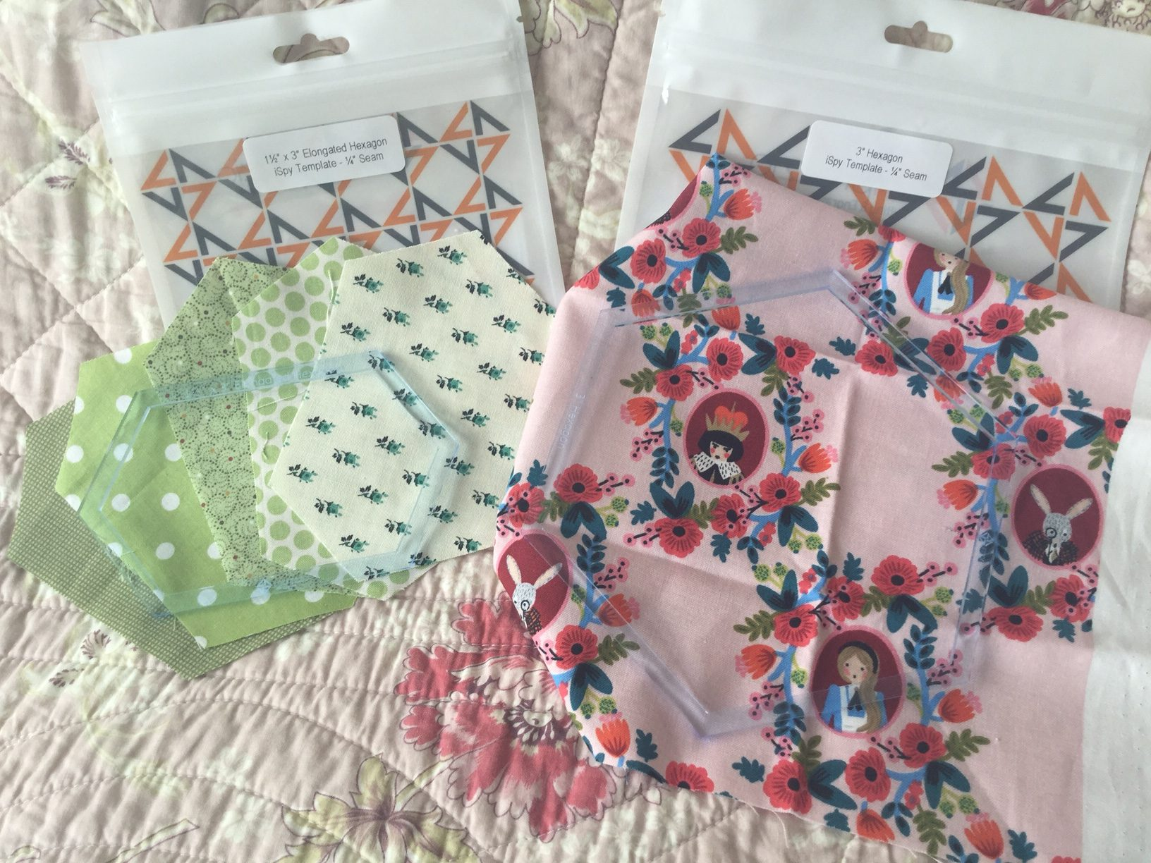 Hexagon Ispy Quilt Plastic Template Set Brigitte